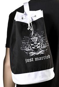 bride gift just married black beach bag wedding gift honeymoon