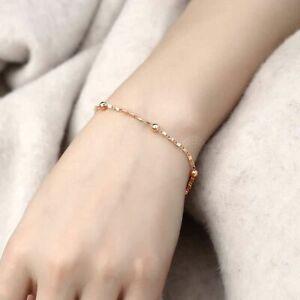 1pc Foxtail Chain Bracelets 3-8mm Rose Gold Filled Bracelet Women's Fashion Jewe