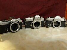 Vintage Minolta SRT 101 35mm Film Camera Body and XD11 AND SR-7 BODIES