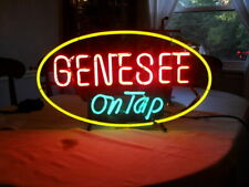 "New Genesee Beer On Tap Bar Decor Man Cave Neon Light Sign 17""x14"""
