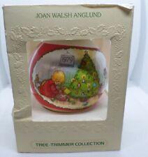 Vintage Hallmark 1979 Betsy Clark Satin Thread Christmas Ball Ornament Fireplace