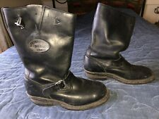 9.5 10 vintage Whites Spokane Explorer Open Road black engineer motorcycle boots
