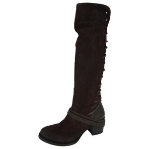 $350 Freebird By Steven Womens Coal Over The Knee Riding Boot Shoes, Wine, US 7