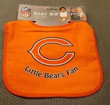 NFL CHICAGO BEARS INFANT BABY BIB ALL ORANGE by WinCraft