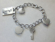 Guess Silver Tone Handbag 5 Charms Bracelet Purse Charms NEW NEW