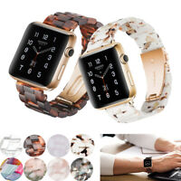 38/40/42/44mm Resin Watch Band Buckle Strap Replacement For Apple iWatch 5/4/3/2