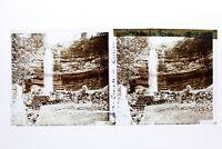 Cascade Del Riccio jura Francia Foto Stereo Placca Da Lente Vintage