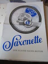 Motorrad Archiv Edition Faksimile 1061e Saxonette der Radlertraum Prospekt