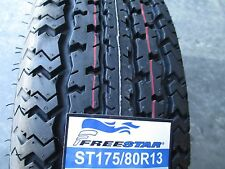 2 New ST 175/80R13 Freestar Radial Trailer Tires 6 Ply 1758013 175 80 13 R13