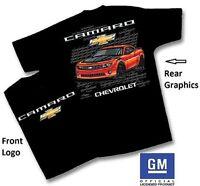 Chevrolet 5th Generation Camaro T-Shirt  Black Camaro Tee Shirt