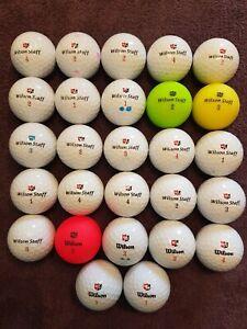 27 x WILSON STAFF - DX2, DX3 & DUO Golf Balls Grade A