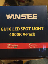 GU10 led spot lights 3000k 9-pack---NEW IN THE BOX