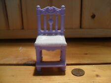 Fisher Price Loving Family Dollhouse White & Purple Replacement Chair Stool 2002