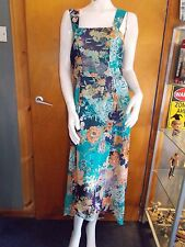 M&S Sleeveless Fully Lined Chiffon Floral Mullet Hem Maxi Dress 14 Multi BNWT