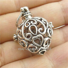 5PCS Love Heart Locket Cage Box Fragrance Essential Oil Aromatherapy Diffuser