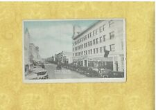 CA Santa Anna 1908-29 vintage postcard 4TH ST SAVINGS BANK OLD CARS SHOPS