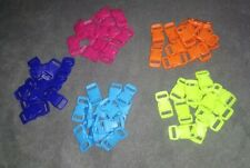 Joblot Of 61 Coloured Plastic Buckle, Strap Clasps, Clips