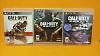 PS3 Sony Playstation 3 GAME Lot - Call of Duty Ghosts, Black Ops, Advanced War