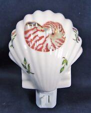 Night Light Sea Shell  Porcelain Nautical Sea Life  Home Decor