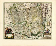 MAP ANTIQUE BLAEU THEATRE DU MONDE BRABANT OLD LARGE REPRO POSTER PRINT PAM0640