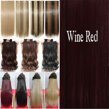 100% Real Thick Clip In human Hair Extension Pony Tail Wrap Around Ponytail AP8