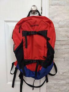 BURTON Backpack Laptop Bag w/ Board Straps Red