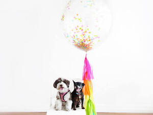 2 4 5 x 90cm Giant Confetti Balloon Kit with Tassels Unicorn Mermaid Birthday
