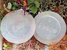 "Faith peace set of 2 plastic celtic coaster design molds each 4"" x 1/4' thick"