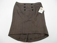 new GUESS JEANS #SHA4495 Women's Size M Straight Stretch Casual Brown Skirt