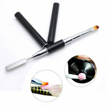 UV PolyGel Poly Gel Nail Art Pen Slice Brush Dual-Ended Slice Shape Tool Polish