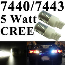 2pcs 7440/7443 T20 CREE Q3 High Power 5W LED Back Up Reverse Lights Bright White