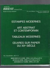 ESTAMPES MODERNES ART ABSTRAIT TABLEAUX MODERNES ... CATALOGUE 3 VENTES F BRIEST
