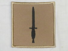Royal Marines Commando Dagger Badge, schwarz/khaki, 70x70mm