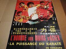 L'HOMME AUX MAINS D'ACIER  !  affiche cinema karate kung-fu 1972