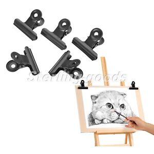 5/10/20Pcs Black Large Metal Hinge Bulldog Clips File Paper Money Binder Clamps