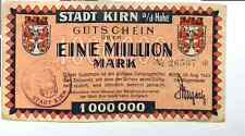 1923 Germany KIRN 1.000.000 / 1 Million Mark Banknote