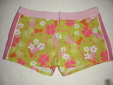 Lilly Pulitzer Multicolor Flip Flops Flowers Print Women Shorts Size 6