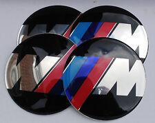 BMW M SERSIES SPORT Hub Caps Badge Emblem Stickers 65mm Set of 4 EPOXY RESIN