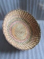 Authentic Very Rare Vintage 1940s Native American Indian Hopi Peach Large Basket