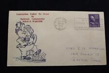 PATRIOTIC COVER 1941 SLOGAN CANCEL AMERICAN LEGION CONVENTION CALL TO ORDER(1276