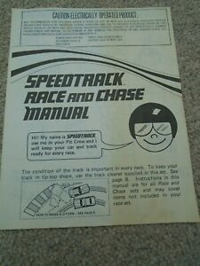 Vintage 1979 Matchbox Speedtrack Race & Chase Manual Lesney Products, 12 pages