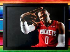 ✺Framed✺ RUSSELL WESTBROOK Houston Rockets NBA Poster - 62cm x 44.5cm x 3cm