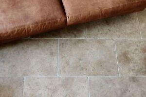 Sample of Milano Brown Tumbled Limestone Stone Floor Tiles Flooring