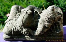 Sleeping Ganesha Garden Statue cast stone Elephant Sculpture Bali Yard art