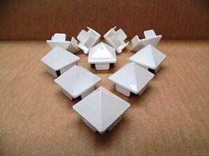 "1.5"" x 1.5"" White Internal Vinyl Picket Caps (10 pack)"