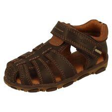 Sandales avec boucle en cuir pour garçon de 2 à 16 ans