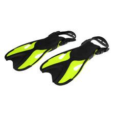 Junior Children Scuba Diving Swimming Fins Flippers Open Heel Fluo Yellow