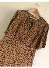 Lk bennett montana leopard Animal print Silk Tea Dress UK18 US14 £295