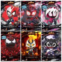 Hot Toys Spider-man Maximum Venom COSBABY Bobble-head Action Figure Model Toys