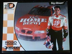 AUTOGRAPHED 2000 Tony Stewart 8x10 NASCAR Cup Home Depot Pontiac Hero Post Card